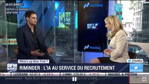 BFMTV : What's up New York : Riminder, l'IA au service du recrutement